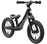 BIKESTAR Magnesium (superleicht) Kinderlaufrad Lauflernrad Kinderrad für Jungen und Mädchen ab 3 - 4 Jahre | 12 Zoll Kinder Laufrad BMX Ultraleicht | Schwarz | Risikofrei Testen