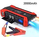 89800mAh Car Battery Jump Starter Pack - Tragbares Elektrowerkzeug-Ladegerät für 12 V Motorrad/Boot/RV mit Klemmen
