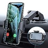 VICSEED Handyhalter fürs Auto Handyhalterung 3 in 1 Universal Saugnapf & Lüftung KFZ Smartphone Halterung 100% Silikonschutz für Alle Handys Großes Telefon iPhone Samsung Huawei LG & Alle Autos